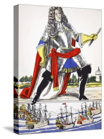 James II, King of Great Britain and Ireland from 1685, (1932)-Rosalind Thornycroft-Stretched Canvas Print