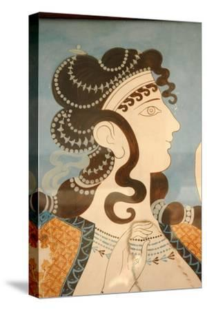 """Detail of one of the """"Blue Ladies""""-Werner Forman-Stretched Canvas Print"""