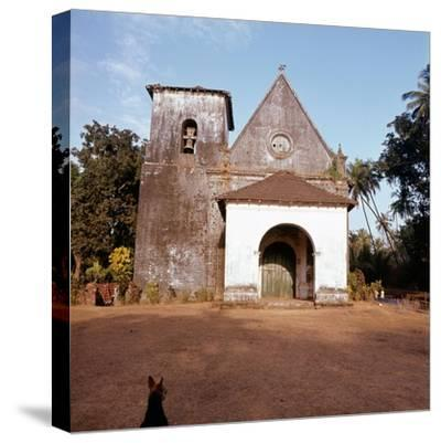 An old colonial church-Werner Forman-Stretched Canvas Print