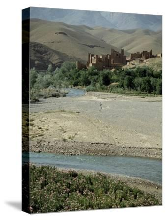 Ait Arbi kasbah, fortified manor house or village-Werner Forman-Stretched Canvas Print