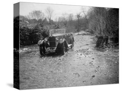 Kitty Brunell road testing a Riley 9 tourer, c1930-Bill Brunell-Stretched Canvas Print