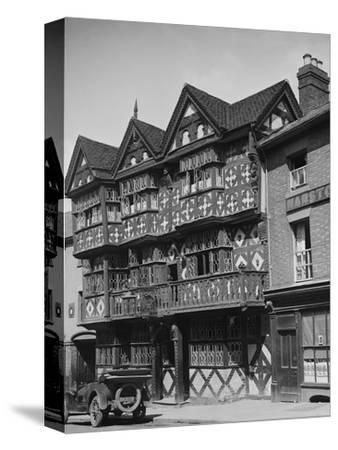 Buick outside the Feathers Hotel, Ludlow, Shropshire, c1930-Bill Brunell-Stretched Canvas Print