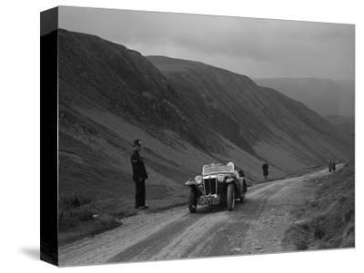 MG PA competing in the MG Car Club Abingdon Trial/Rally, 1939-Bill Brunell-Stretched Canvas Print