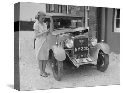Bianchi saloon of Kitty Brunell at the B&HMC Brighton Motor Rally, 1930-Bill Brunell-Stretched Canvas Print