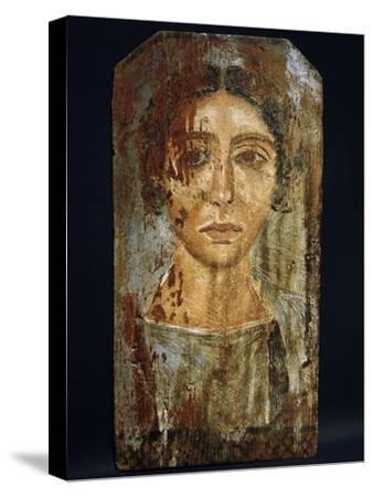 Portrait of a woman, Roman Egypt, probably 3rd century AD-Werner Forman-Stretched Canvas Print
