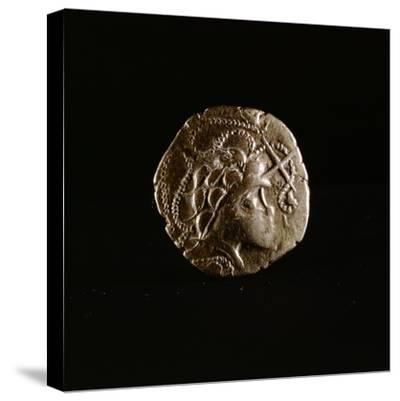 Celtic coin, Armorica, France, first half of the 1st century BC-Werner Forman-Stretched Canvas Print