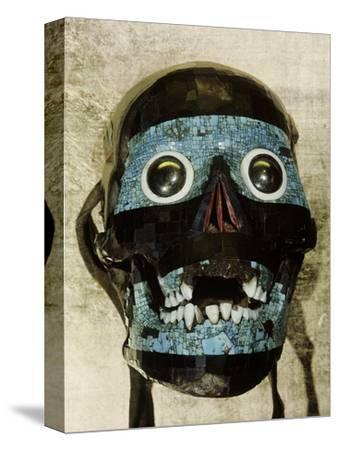 Mask of Tezcatlipoca, the Smoking Mirror, Mixtec/Aztec, Mexico, c1500-Werner Forman-Stretched Canvas Print