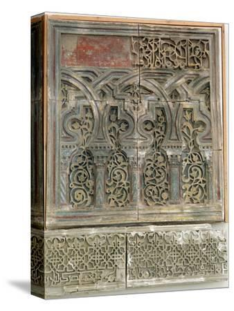 Stucco wall decoration, Islamic Spain, Muluk al Tarr'if period, 12th century-Werner Forman-Stretched Canvas Print