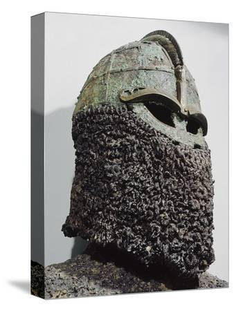 The so-called 'Sigurd's Helmet', pre-Viking, Sweden, c7th century-Werner Forman-Stretched Canvas Print