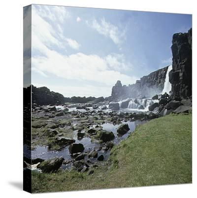 Thingvellir, 'Parliament Plains', where the national assembly, the Althing, met, Iceland-Werner Forman-Stretched Canvas Print