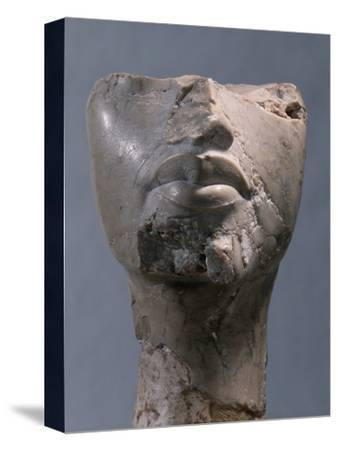 Fragment of a head, Ancient Egyptian, Amarna period, c1352-1336 BC-Werner Forman-Stretched Canvas Print