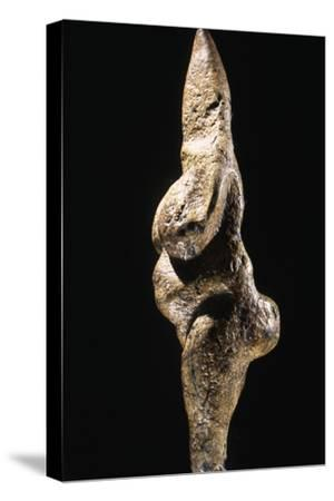Stylised serpentine female figurine, Italy, Paleolithic, Aurignacian-Perigordian period, c25,000 BC-Werner Forman-Stretched Canvas Print