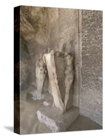 Boundary stele of Akhenaten's city of Amarna, Tuna el-Gebel, Egypt, c1350-1334 BC-Werner Forman-Stretched Canvas Print