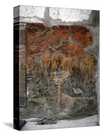 House of the Mosaic of Neptune and Amphitrite, Italy-Werner Forman-Stretched Canvas Print