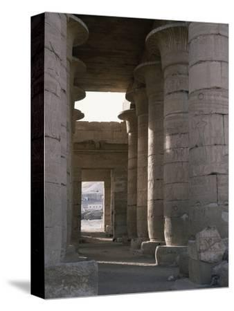 Hypostyle hall, the Ramesseum, Luxor (Thebes), Egypt-Werner Forman-Stretched Canvas Print
