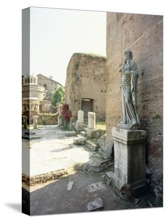 The Roman Forum-Werner Forman-Stretched Canvas Print