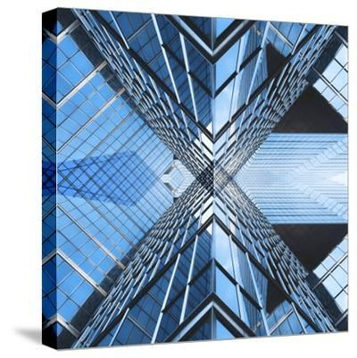 Architectural Blues-THE Studio-Stretched Canvas Print