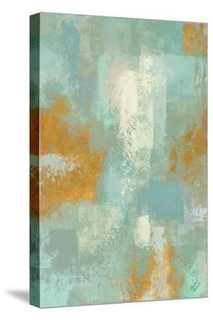Escape into Teal Abstraction I-Michael Marcon-Stretched Canvas Print
