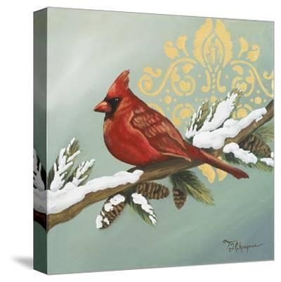 Winter Red Bird II-Tiffany Hakimipour-Stretched Canvas Print