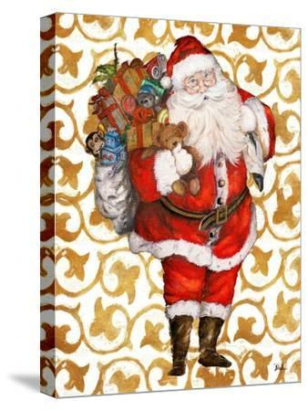 Golden Santa-Patricia Pinto-Stretched Canvas Print