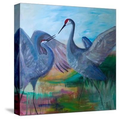 Sandhill Cranes-Robin Maria-Stretched Canvas Print