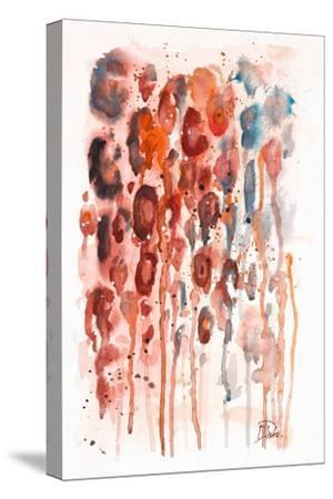 Red Watercolor Animal Skin-Patricia Pinto-Stretched Canvas Print