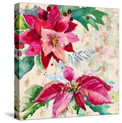 Holiday Poinsettia I-Patricia Pinto-Stretched Canvas Print