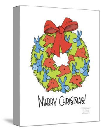 Merry Christmas!-Signe Wilkinson-Stretched Canvas Print