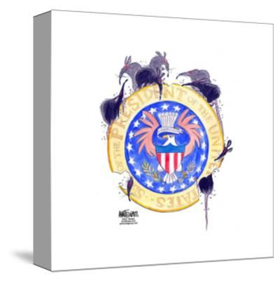 Seal of the President of the United States. E. pluribus unum.-Ann Telnaes-Stretched Canvas Print