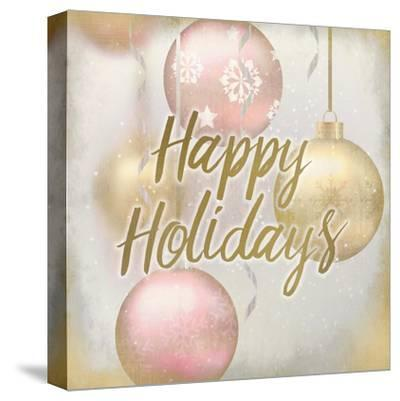 Happy Holidays Ornaments-Kimberly Allen-Stretched Canvas Print
