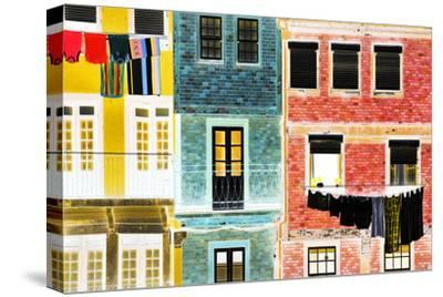 Iberian Negative Collection - Porto Facades-Philippe Hugonnard-Stretched Canvas Print