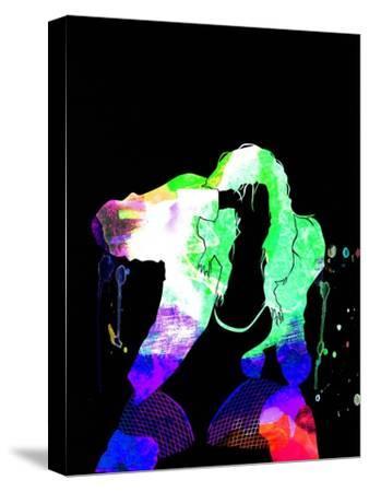Black Eyed Peas Watercolor-Lana Feldman-Stretched Canvas Print
