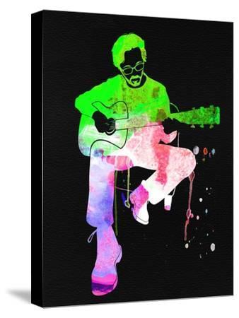 Eric Clapton Stone Watercolor-Lana Feldman-Stretched Canvas Print