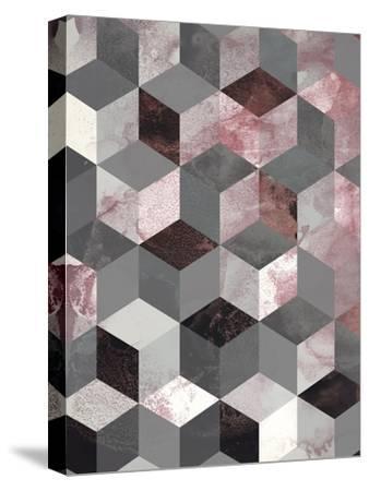 Cubes Rose-Design Fabrikken-Stretched Canvas Print