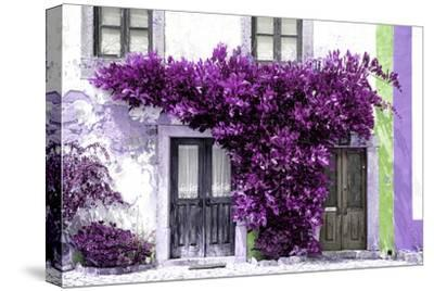 Welcome to Portugal Collection - Old Portuguese House facade with Purple Colors-Philippe Hugonnard-Stretched Canvas Print