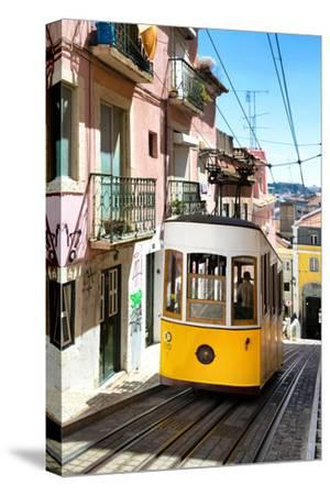 Welcome to Portugal Collection - Bica Tram Lisbon-Philippe Hugonnard-Stretched Canvas Print