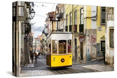 Welcome to Portugal Collection - Bica Tram in Lisbon-Philippe Hugonnard-Stretched Canvas Print