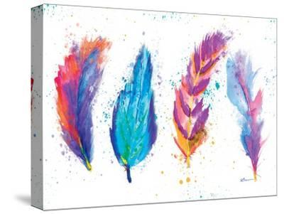 Feathers-Victoria Brown-Stretched Canvas Print