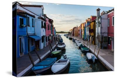 Burano, Venice, Italy, Europe-Mark A Johnson-Stretched Canvas Print