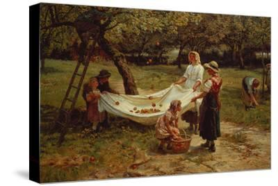 The Apple Gatherers, 1880-Frederick Morgan-Stretched Canvas Print