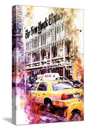 NYC Watercolor Collection - Look-Philippe Hugonnard-Stretched Canvas Print