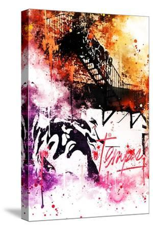 NYC Watercolor Collection - Colors Mind-Philippe Hugonnard-Stretched Canvas Print