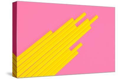 Pop Straws Collection - Light Pink & Yellow-Philippe Hugonnard-Stretched Canvas Print