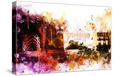 NYC Watercolor Collection - Silvercup Studios-Philippe Hugonnard-Stretched Canvas Print