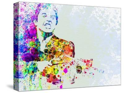 Legendary Scarface Watercolor-Olivia Morgan-Stretched Canvas Print