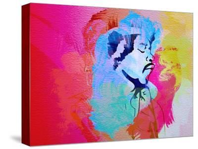 Legendary Hendrix Watercolor-Olivia Morgan-Stretched Canvas Print