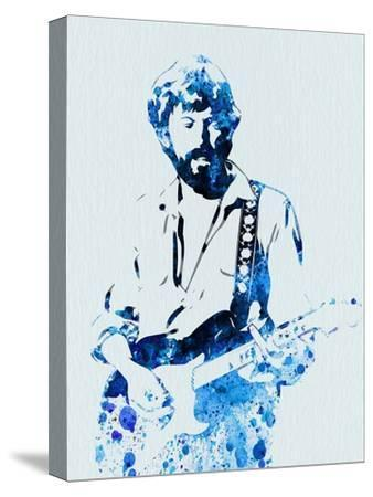 Legendary Eric Clapton Watercolor-Olivia Morgan-Stretched Canvas Print