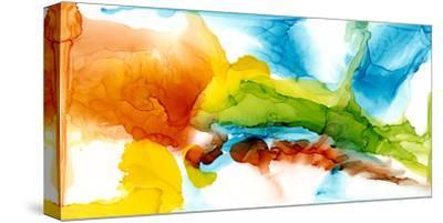 Primary Plume II-Jennifer Goldberger-Stretched Canvas Print
