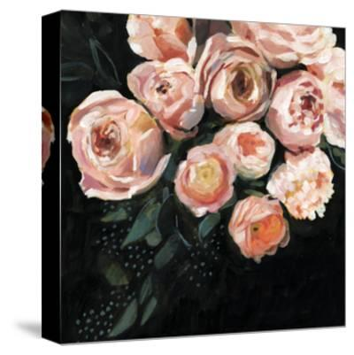 Peachy Blooms II-Victoria Borges-Stretched Canvas Print