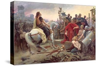 Vercingetorix Throws Down His Arms at the Feet of Julius Caesar, 1899-Lionel Noel Royer-Stretched Canvas Print